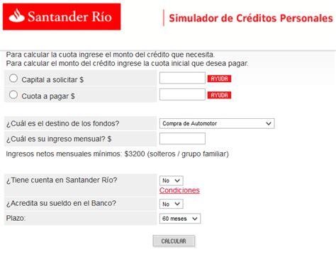 simulador banco santander creditodsekac
