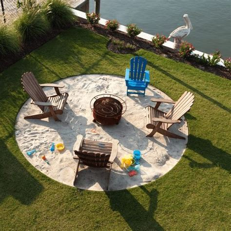 backyard beach themed fire pit backyard fire pit ideas inspired by beach bonfires beach