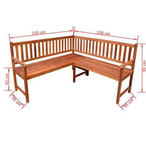 corner bench furniture outdoor corner bench acacia hardwood seat garden 5 seater