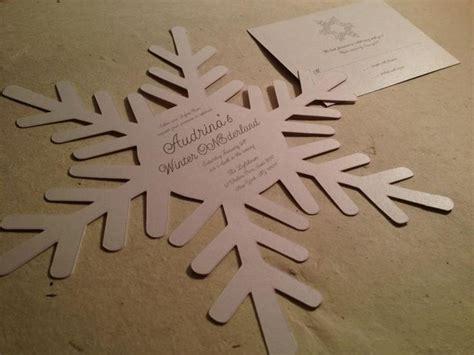 snowflakes template invitation die cut snowflake invitation by purple snowflake design