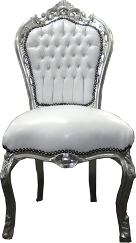 Esszimmer Le Silber by Casa Padrino Barock Esszimmer Stuhl Wei 223 Silber M 246 Bel