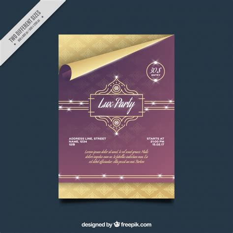 template brochure elegant elegant party brochure template vector free download