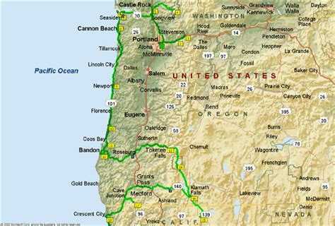 map of oregon and northern california map of northern california and oregon images