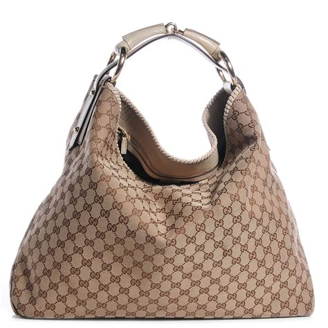 Gucci Chain Large Hobo by Gucci Monogram Large Horsebit Chain Hobo White 70979
