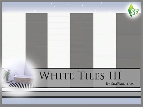 Home Game Room Decor The Sims Resource White Tiles Wall Set By Sim Fabulous