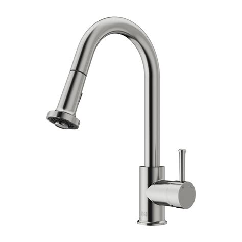 vigo vgst stainless steel pull  spray kitchen faucet atg stores