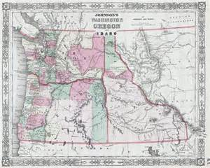 map of idaho and oregon file 1864 johnson map of washington oregon and idaho
