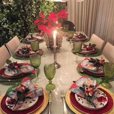 como decorar uma mesa para ceia de natal simples mesa de natal 85 ideias para decorar e ter uma ceia linda