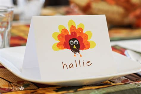 Children S Place Gift Card - crafting with kids easy thanksgiving place cards