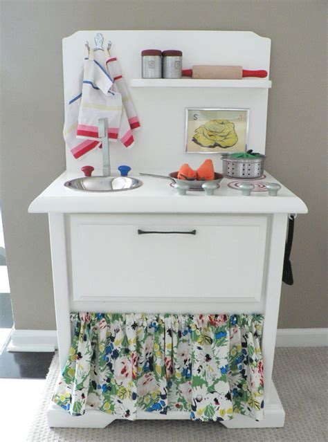 diy play kitchen for kid from old nightstand furniture creative ideas for grandparents repurpose old end tables