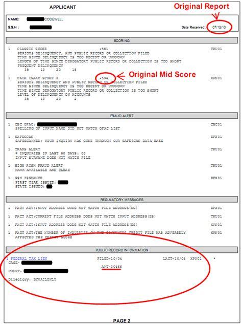 Tax Lien Records Credit Line Iq