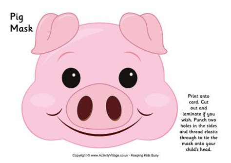 pig mask template pig mask printable