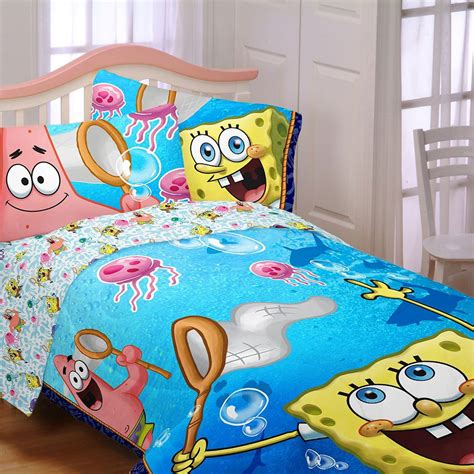 spongebob toddler bedding set spongebob jellyfishing full sheet set patrick sheets