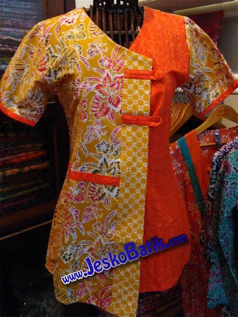 Blouse Batik Cap Pekalongan blus batik cap b605 batik pekalongan by jesko batik