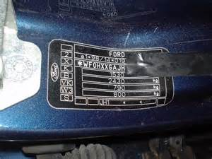 ford 2001 ford paint codes