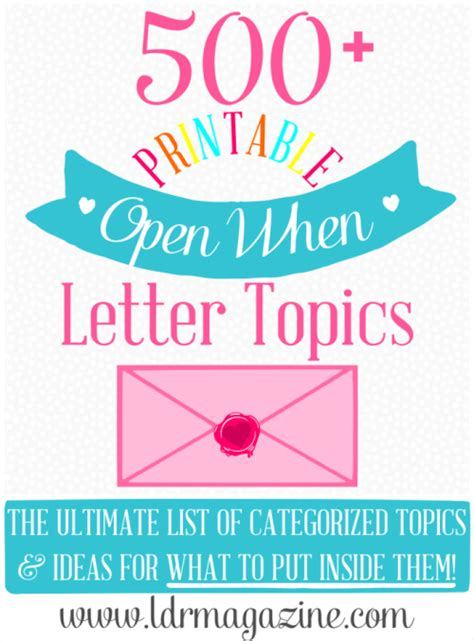 open when letter ideas open when letter ideas 1522
