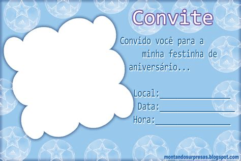 Modelos De Convite De Aniversario Para Meninos 18 Anos   modelo de convite de anivers 193 rio para menino