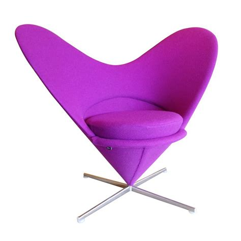 Danish Design Verner Panton Heart Cone Chair For Sale at