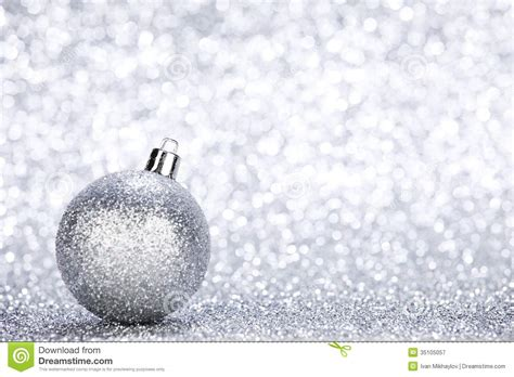 silver christmas ball stock image image of sphere