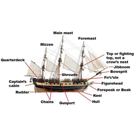 Ship Design What Are The Parts Of A Sailing Ship