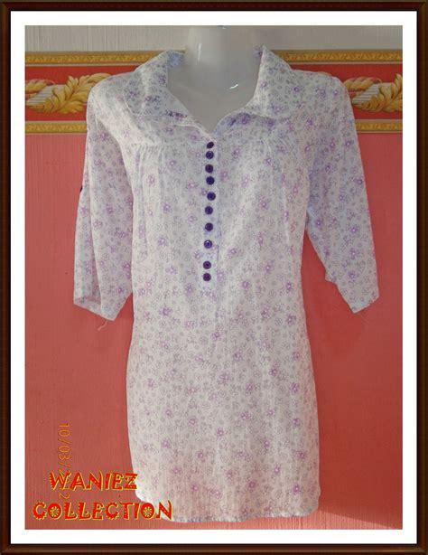 Blouse Kotak2 Putih waniezcollection blouse kemeja waniez collection