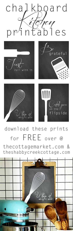 Free Kitchen Printables by Free Kitchen Printables A Set Of Four