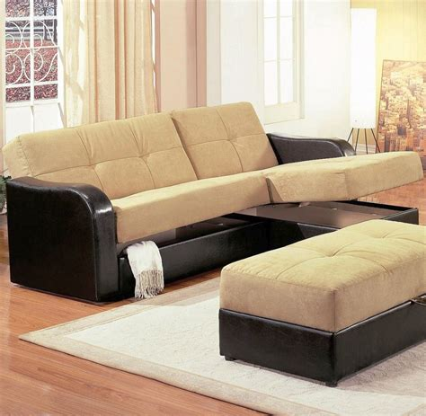 Sofa Beds For Small Rooms Sleek Black And Beige Small Sofa Beds For Small Rooms