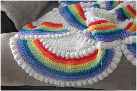 Home Decor Styles Name The Rainbow Crochet Afghan Free Pattern Stylesidea