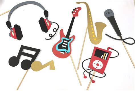 Music Themed Party Decorations Rock And Roll Props Music Photobooth Props Rockstar Props