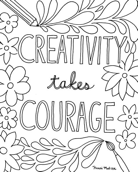printable coloring pages of quotes free printable quote coloring pages for grown ups