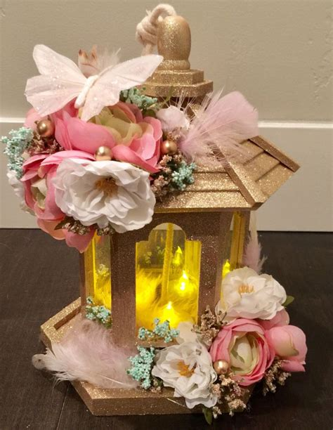 baby shower cake candles pink and gold centerpiece candle shabby chic baby