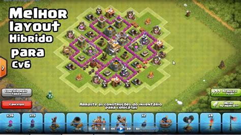 layout batman cv 6 melhor layout hibrido para cv6 clash of clans youtube