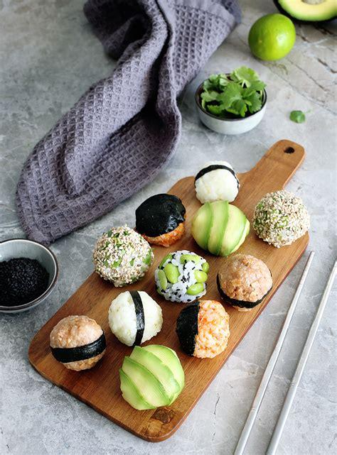 vegan onigiri japanese stuffed rice balls green evi