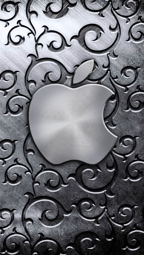 wallpaper for iphone 5 silver silver apple logo the iphone wallpapers