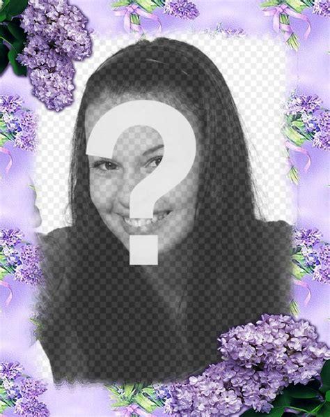 efectos para decorar fotos online flores violetas para decorar tus fotos con este efecto