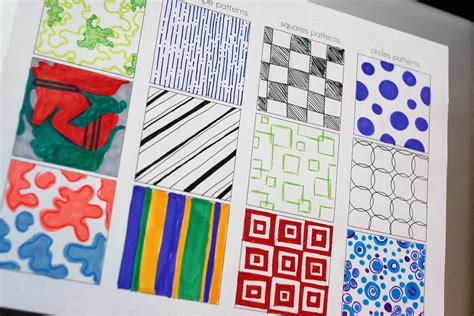 Pattern Art Class | today s art lesson pattern development