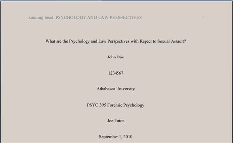 apa title page template 6th edition psychology apa style 6th ed tutorial