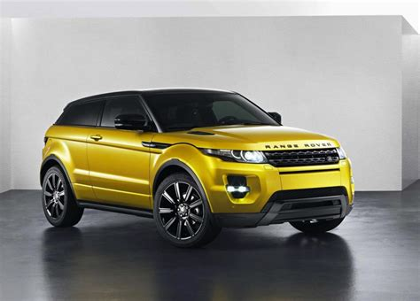 range rover evoque sicilian yellow limited edition front