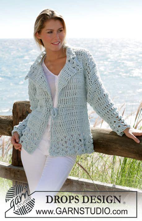 Drops Design Strickmuster by Free Crochet Jacket Pattern Size S Drops Design