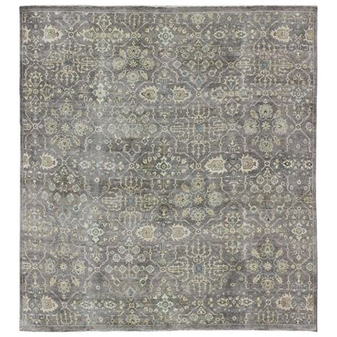 Square Modern Rugs Square Shaped Modern Rug With Garden Pattern In Ivory And Gray Tones For Sale At 1stdibs
