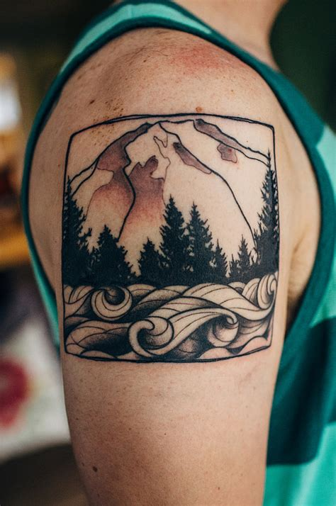 tattoo tacoma mount rainier mountain more mount rainier ideas