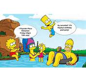 Simpsons Characters Images Birthday Invite HD Wallpaper And Background