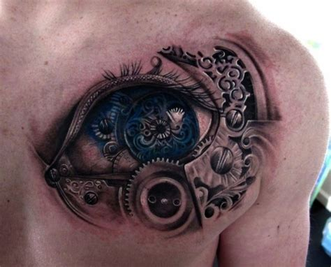 3d tattoo artist nyc biomechanical tattoo 3d tattoos and tattoo clock on pinterest