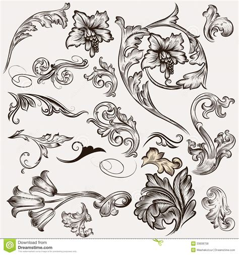 vector decorative design elements page decor collection of vector calligraphic design elements and page