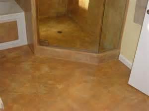 decorative concrete corner shower