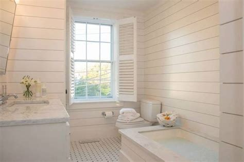 Bathroom Wall Paneling Ideas It S Called Shiplap Home Waterfront Living Drop In Tub Design Bathroom And