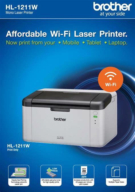 Printer Hl 1211w Shop Hl 1211w Single Function Mono Laser Printer Shopclues