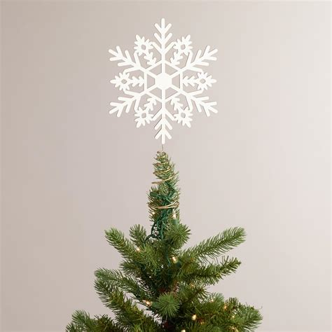 snowflake tree topper laser cut wood snowflake tree topper world market