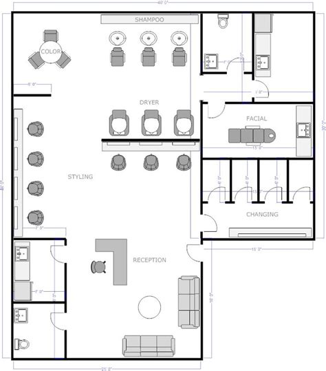 Hair Salon Floor Plans by Salon Floor Plan 1 Floor Plan Offices
