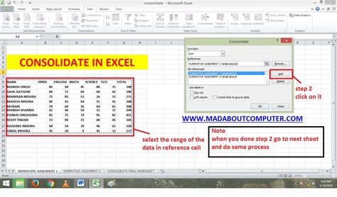 Merge Worksheets In Excel by Consolidating Data From Excel Worksheets By